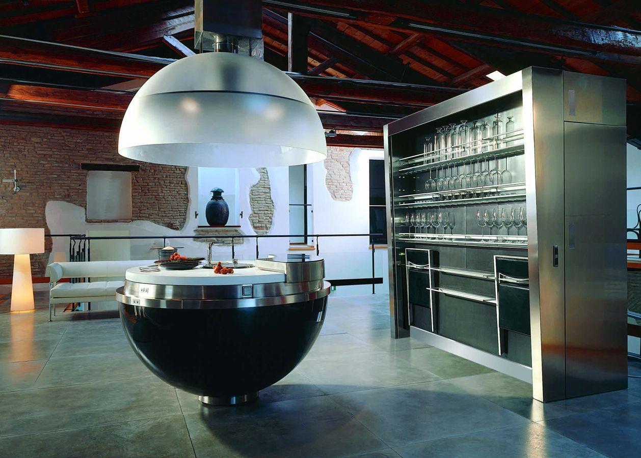 Una cucina in una sfera
