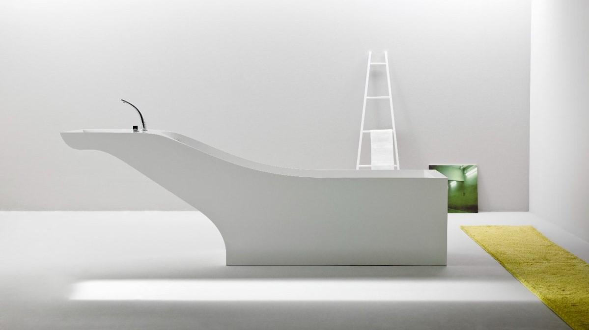Il lavabo nella vasca